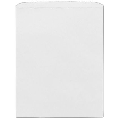 White Paper Merchandise Bags, 12 x 15
