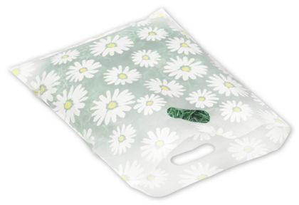 Daisy Frosted Merchandise Bags, 12 x 15""