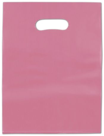 Cerise Frosted High Density Merchandise Bags, 12 x 15