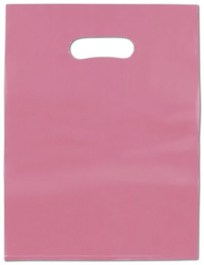Cerise Frosted High Density Merchandise Bags, 12 x 15""