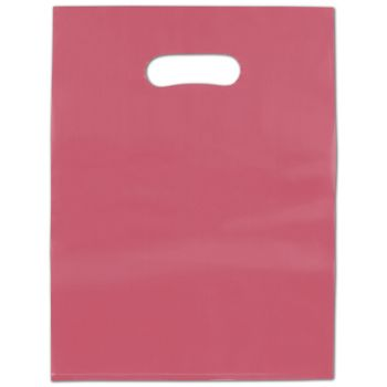 Red Frosted High Density Merchandise Bags, 12 x 15