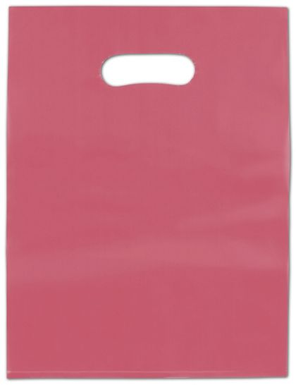 """Red Frosted High Density Merchandise Bags, 12 x 15"""""""