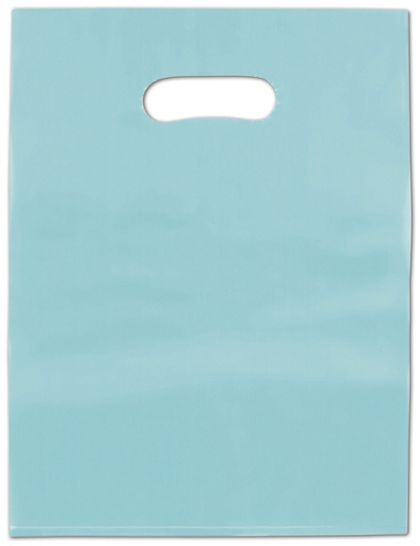 Turquoise Frosted High Density Merchandise Bags, 12 x 15""