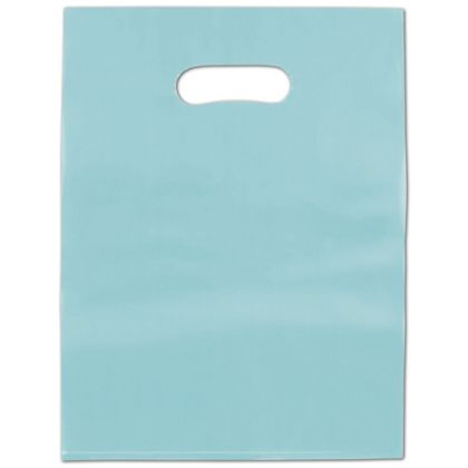 Turquoise Frosted High Density Merchandise Bags, 12 x 15
