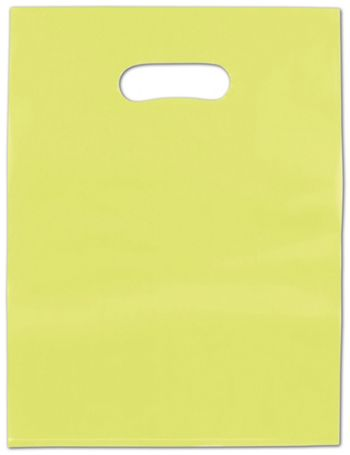 Lime Green Frosted High Density Merchandise Bags, 12 x 15
