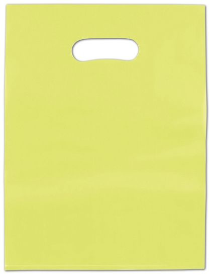 Lime Green Frosted High Density Merchandise Bags, 12 x 15""