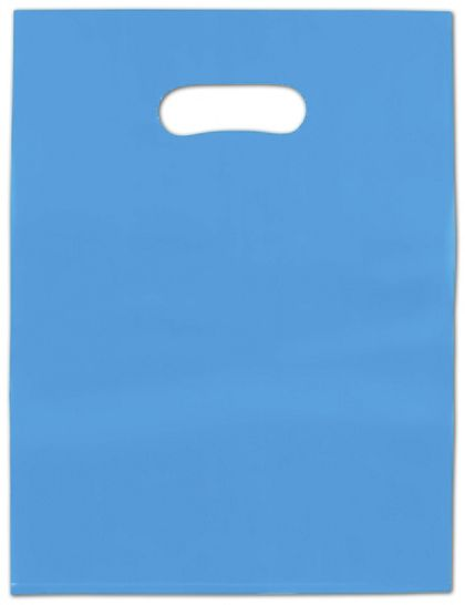Blue Frosted High Density Merchandise Bags, 12 x 15""