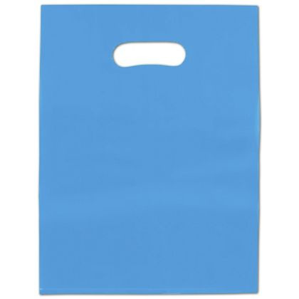 Blue Frosted High Density Merchandise Bags, 12 x 15