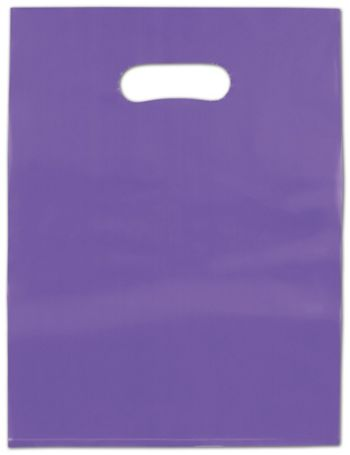Grape Frosted High Density Merchandise Bags, 12 x 15