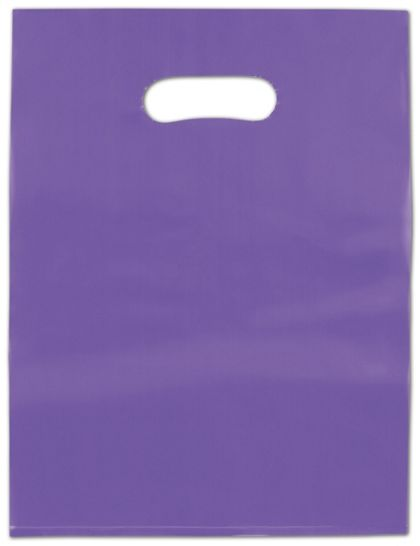 Grape Frosted High Density Merchandise Bags, 12 x 15""