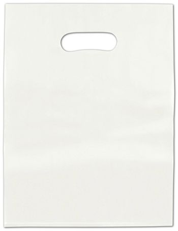 White Frosted High Density Merchandise Bags, 12 x 15