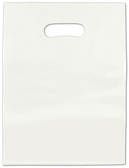 """White Frosted High Density Merchandise Bags, 12 x 15"""""""
