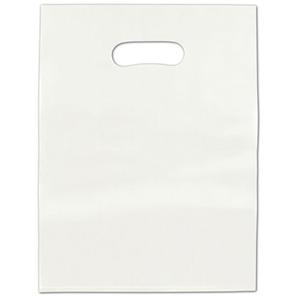 White Frosted High Density Merchandise Bags, 12 x 15""