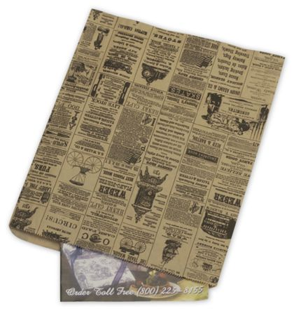Newsprint Merchandise Bags, No Gussets, 12 x 15""