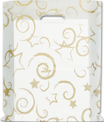 Stars Frosted Merchandise Bags, 12 x 15
