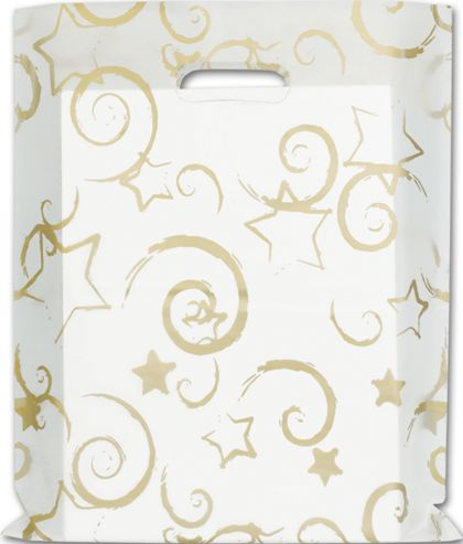 """Stars Frosted Merchandise Bags, 12 x 15"""""""