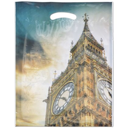 "Big Ben Merchandise Bags, 12 x 16"" + 3"" Bottom Gusset"