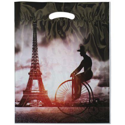"Eiffel Merchandise Bags, 12 x 16"" + 3"" Bottom Gusset"