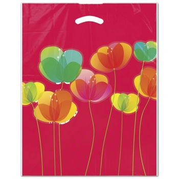 "Flora Merchandise Bags, 12 x 16"" + 3"" Bottom Gusset"