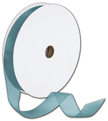 Sheer Organdy Empress Teal Ribbon, 5/8