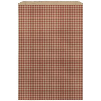 Red Gingham Paper Merchandise Bags, 14 x 3 x 21
