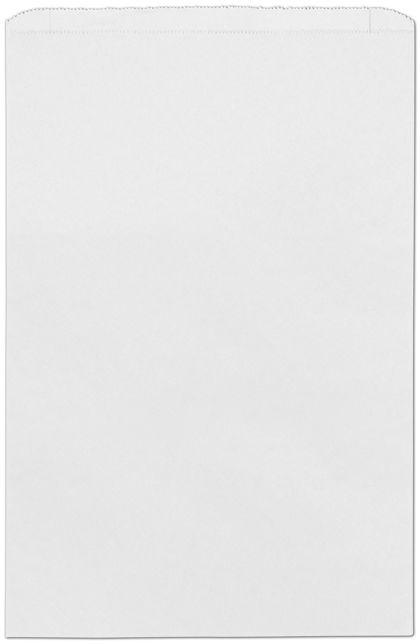 "White Paper Merchandise Bags, 14 x 3 x 21"""