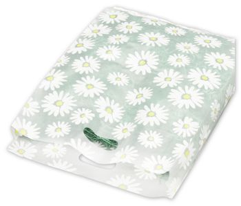 Daisy Frosted Merchandise Bags, 14 x 3 x 21