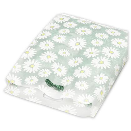 Daisy Frosted Merchandise Bags, 14 x 3 x 21""