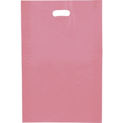 Cerise Frosted High Density Merchandise Bags, 14 x 3 x 21""