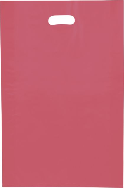 Red Frosted High Density Merchandise Bags, 14 x 3 x 21""