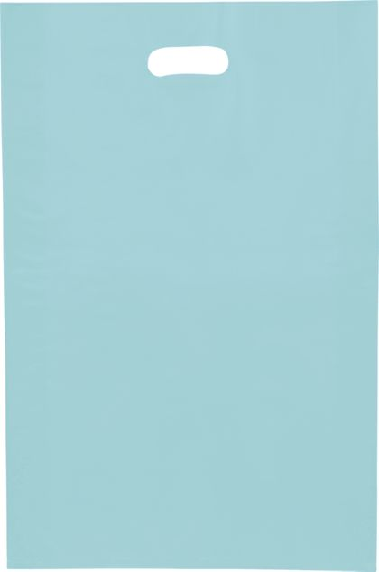 Turquoise Frosted High Density Merchandise Bags, 14x3x21""