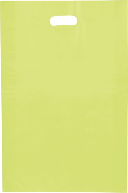 """Lime Green Frosted High Density Merchandise Bags, 14x3x21"""""""