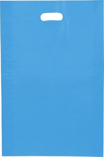 """Blue Frosted High Density Merchandise Bags, 14 x 3 x 21"""""""