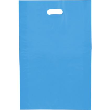 Blue Frosted High Density Merchandise Bags, 14 x 3 x 21