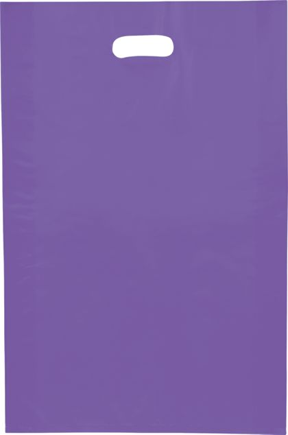 Grape Frosted High Density Merchandise Bags, 14 x 3 x 21""