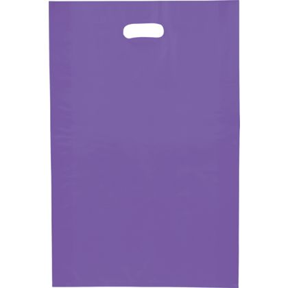 Grape Frosted High Density Merchandise Bags, 14 x 3 x 21