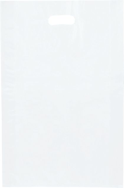 """Clear Frosted High Density Merchandise Bags, 14 x 3 x 21"""""""