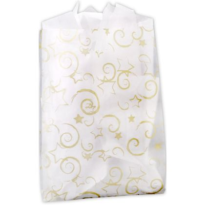 Stars Frosted Merchandise Bags, 14 x 3 x 21