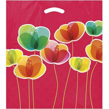 "Flora Merchandise Bags, 16 x 18"" + 4"" Bottom Gusset"