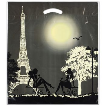 "Paris Merchandise Bags, 16 x 18"" + 4"" Bottom Gusset"
