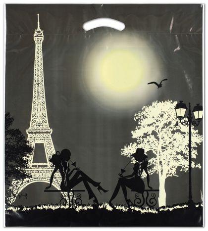 "Paris Merchandise Bags, 16 x 18"" + 4"" Bottom Gusset"