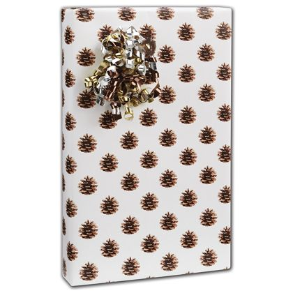 """Pine Cone Gift Wrap, 24"""" x 417'"""