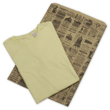 Newsprint Merchandise Bags, Side Gussets, 14 x 3 x 21""