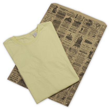 """Newsprint Merchandise Bags, Side Gussets, 14 x 3 x 21"""""""