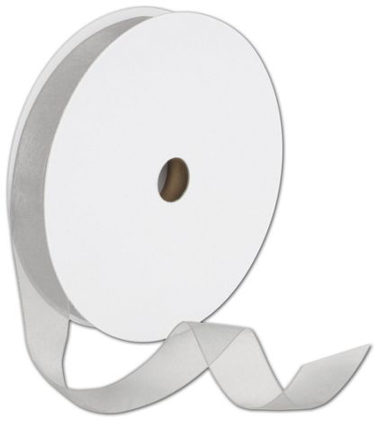"Sheer Organdy Silver Ribbon, 7/8"" x 100 Yds"