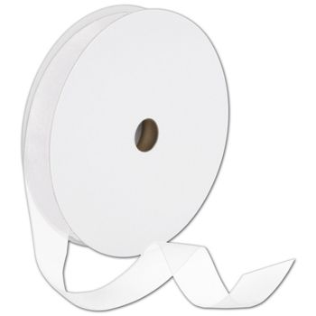 "Sheer Organdy White Ribbon, 7/8"" x 100 Yds"