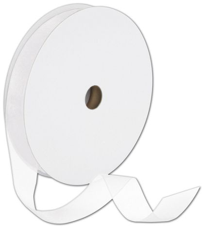 "Sheer Organdy White Ribbon, 7/8"" x 100 Yds"