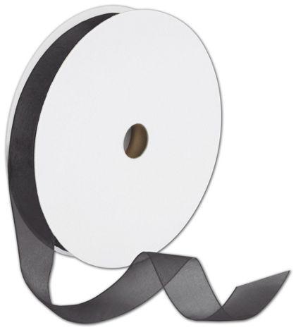 """Sheer Organdy Black Ribbon, 7/8"""" x 100 Yds"""