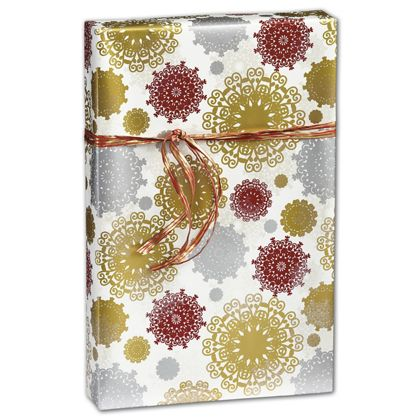 "Snowfall Gift Wrap, 30"" x 208'"