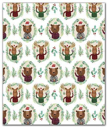 Funky Flannels Gift Wrap, 30
